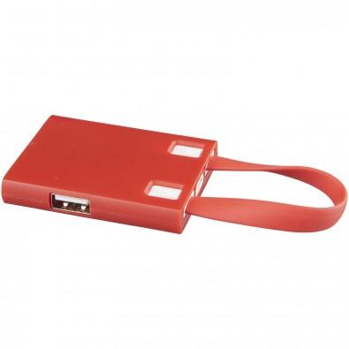 USB Hub  3 in 1 Kabel, rot
