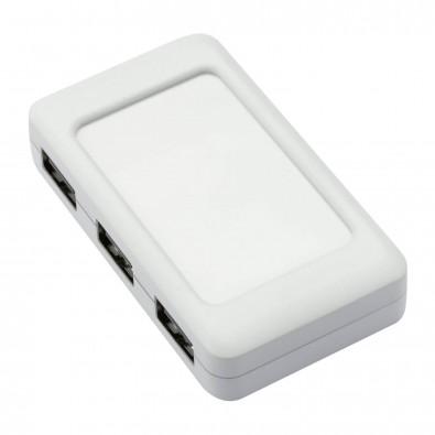 USB-Hub mit 4 Anschlüssen LOLLIBLOCKS-USB HUB weiß