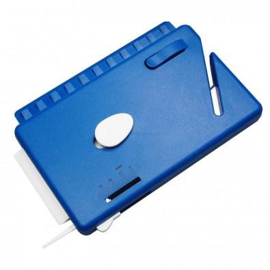 Vignettenschaber, standard-blau PP