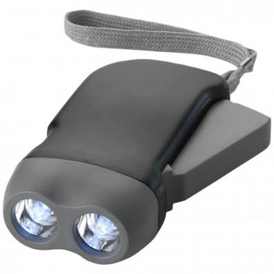 Virgo Dynamo Taschenlampe, schwarz,grau