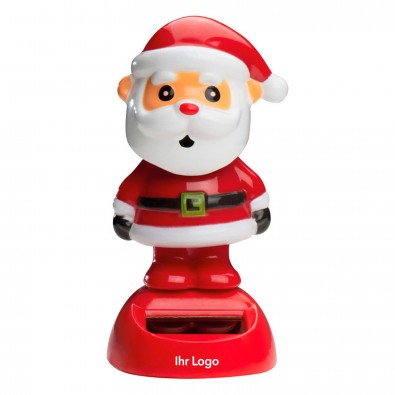 Wackelfigur mit Solarfeld, Weihnachtsmann
