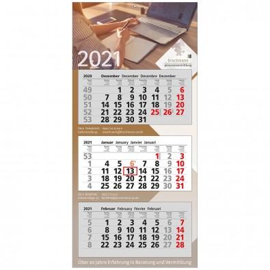 3-Monats-Wandkalender Modern 2020, 3 Monate
