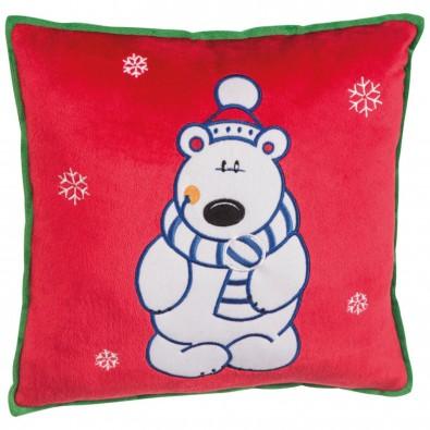 Weihnachtskissen mit verschiedenen Motiven, Eisbär