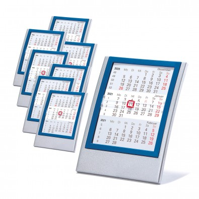 Werbe-Set 2-Jahres-Kalender Small, 50 tlg., Silber/Rot