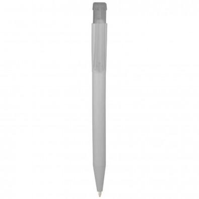 York Kugelschreiber, weiss, transparent klar