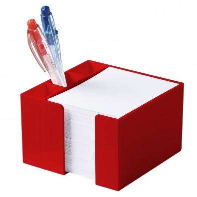 Zettelbox Stifteköcher, standard-rot