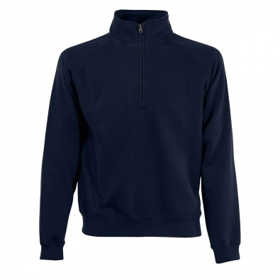 Original Fruit of the Loom® Zip-Neck-Sweat Deep Navy | M