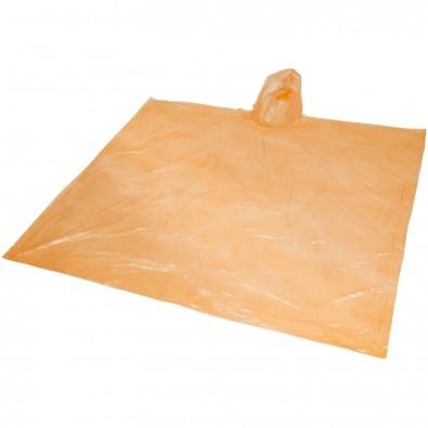 Ziva Einweg Regenponcho mit Hülle, orange