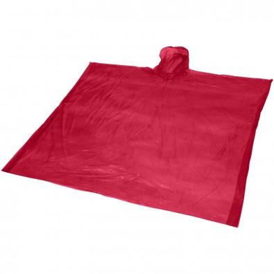 Ziva Einweg Regenponcho mit Hülle, rot