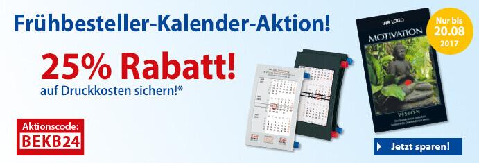 Kalender Frühbesteller-Aktion2017